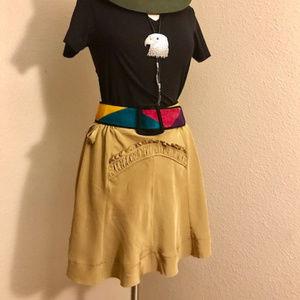 BCBG Maxazria Silk Skirt with Detail. XS